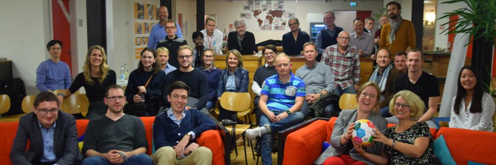 Jonas Pfrang and Felix Seifert presented the prototype of VERnetzX at SAP's Next-Gen meetup at Heidelberg.
